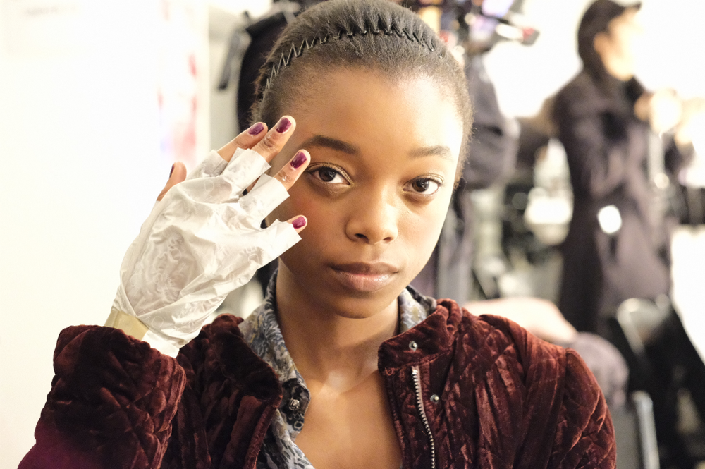 <p>Voesh Collagen Gloves used at Prabal Gurung. (Courtesy of Voesh).</p>