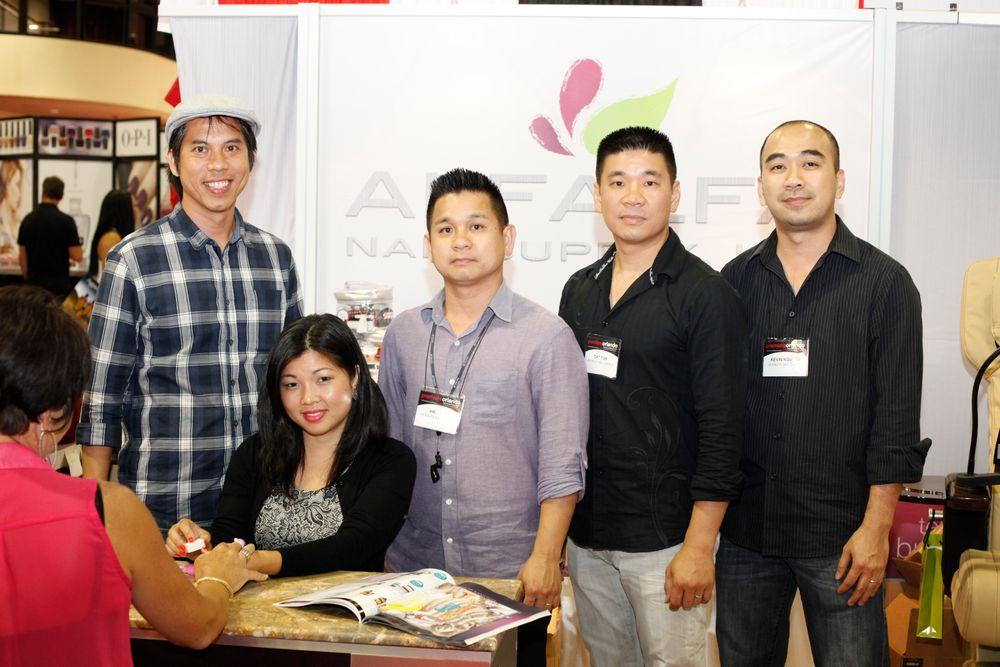 <p>The Alfalfa Nail Supply team: Quang Tran, Cindy Nguyen, Hien Ton, Day Ton, and Kevin Nguyen</p>
