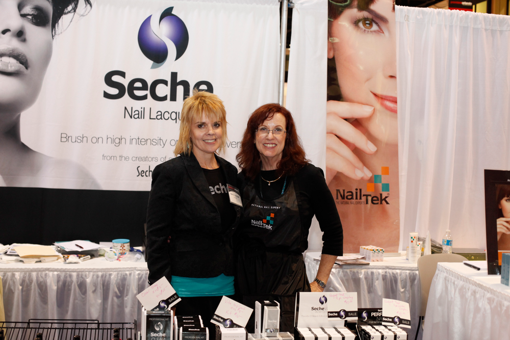 <p>Seche's Nancy Strohm and Nail Tek's Michele Baker</p>