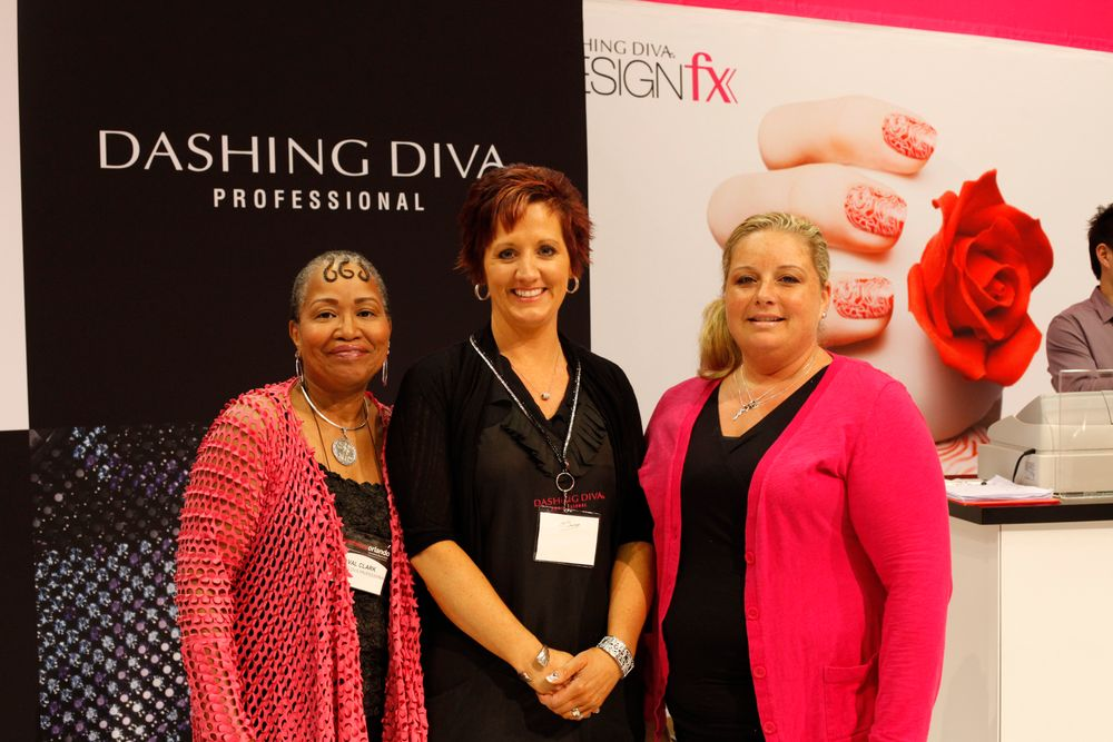 <p>Dashing Diva's Val Clark, Lesley Layer, and Becky Hall</p>