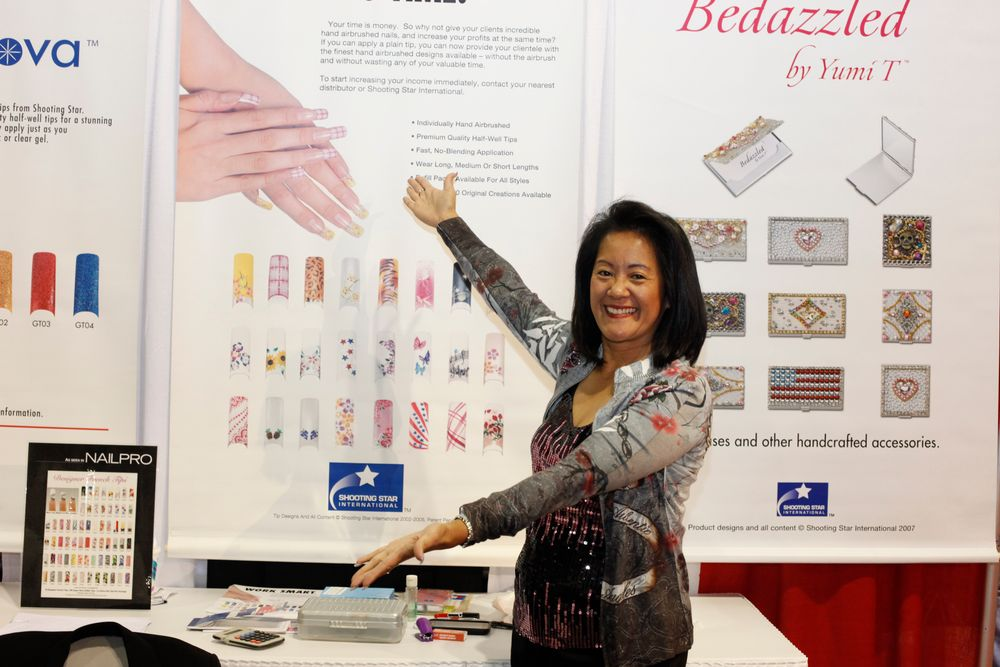 <p>Lan Anderson presents Shooting Star's newest nail tips.</p>