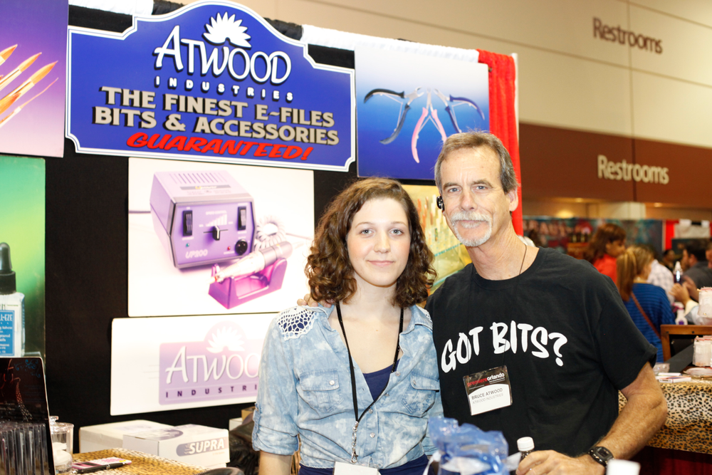 <p>Jessica Tausch and Bruce Atwood promoted Atwood Industries latest e-files and bits.</p>