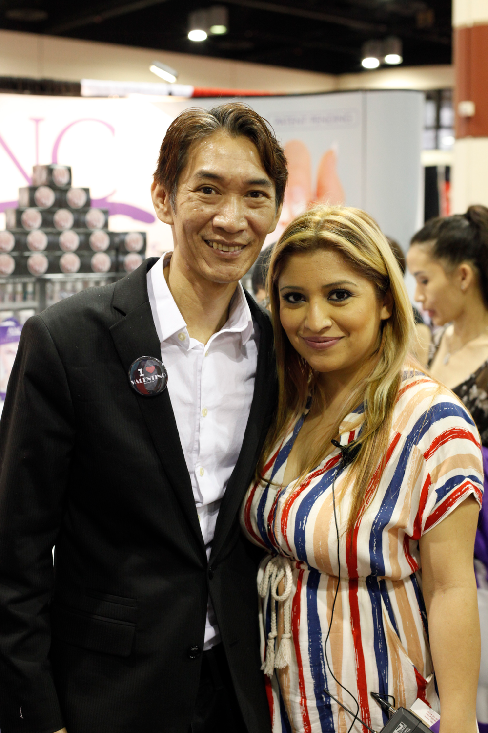<p>Entity Beauty&rsquo;s Joseph Pham visited Amazing Nail Concepts&rsquo; booth with ANC educator Roxy Carillo.</p>