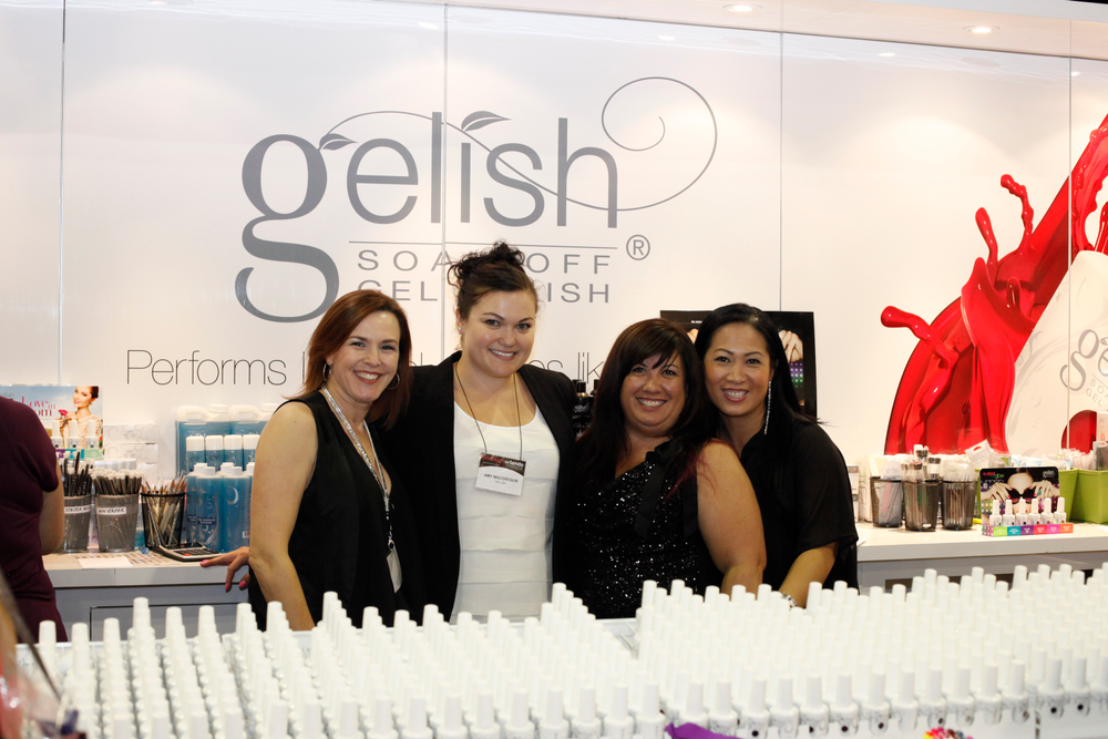 <p>The team of Danielle Candido, Amy Macgregor, MaeLing Parrish, and Thao Nguyen rocked the Gelish booth.</p>
