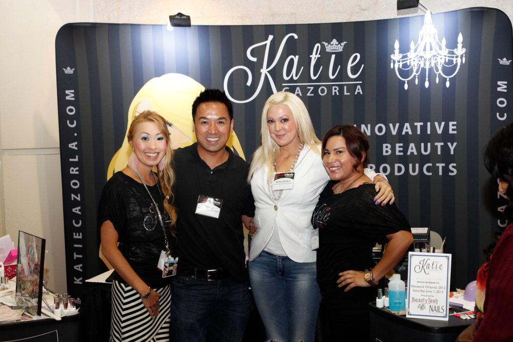 <p>Mami Griffin, Thom Le, reality TV nail artist Katie Cazorla, and Ceci Escobar promoted Cazorla&rsquo;s new line of nail products.</p>