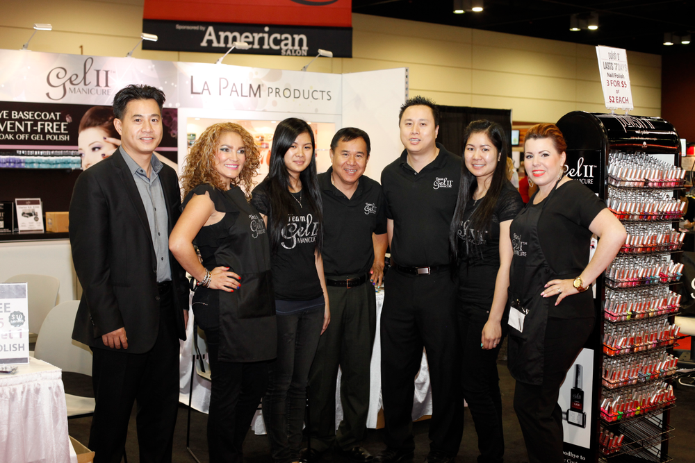 <p>La Palm Products represented in full force with David Le, Ancy Mendolia, Duong Tong, Khanh Le, Michael Le, Dung Tong, and Rose Velez-Miggins.</p>