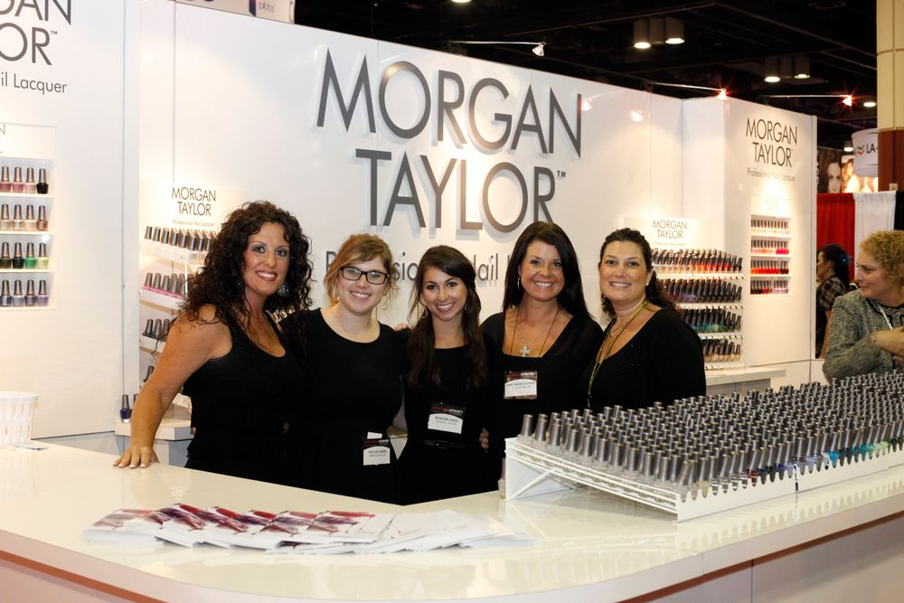 <p>Jacqueline Hogelund, Taylor Daniel, Morgan Haile, Vanessa Willoughby, and Lisa Behrens promoted the new Morgan Taylor Nail Lacquer line.</p>