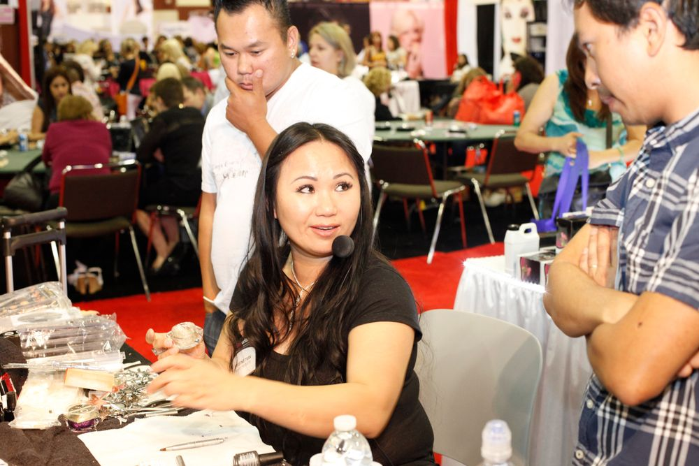 <p>Today&rsquo;s Product&rsquo;s Christine Tran demoed a few of her new glitter products.</p>