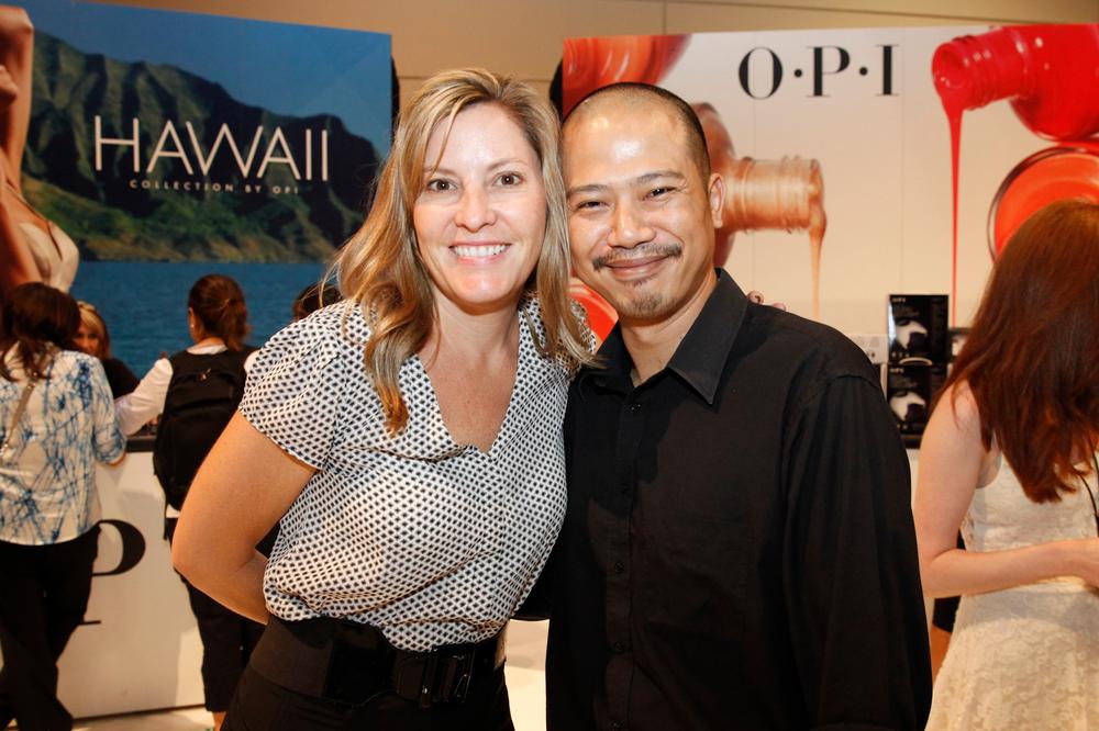 <p>OPI&rsquo;s Danielle Devine and Vu Nguyen</p>