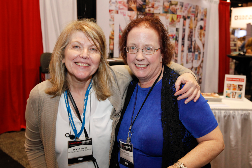 <p>Our friends from the NailTech Network Orlando Social Diana Bonn and Mindy Borrego</p>
