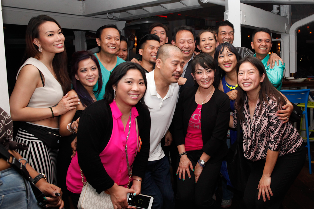 <p>VietSALON's Kim Pham (front, right) helped gather members of the Vietnamese nail industry for an impromptu get-together.</p>