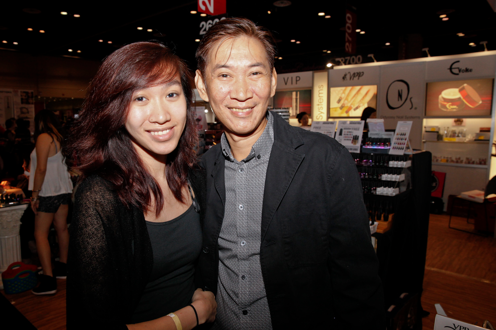 <p>Odyssey Nail Systems&rsquo; Joseph Pham (right) with his daughter Jade Pham</p>