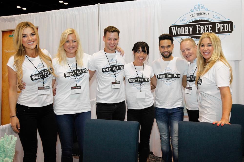 <p>Worry Free Pedi&rsquo;s Johanna Kimberley, Jen LaRue, Clark Gibbons, Michelle LaRue, Anthony Cortes, Allen Pryor, and Megan Morris</p>