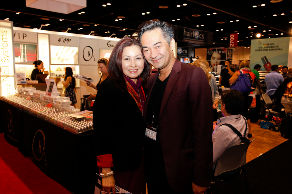 <p>Odyssey Nail Systems power couple Vannie Luu and Trang Nguyen</p>
