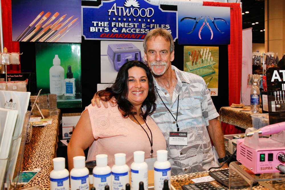 <p>Atwood Industries&rsquo; Kristi Din and Bruce Atwood</p>