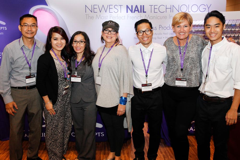 <p>Amazing Nail Concepts&rsquo; Eric Huynh, Nancy Tran, Maya Le, Shelly Pechota, Ricky Huynh, Vicki Jensen, and Dylan Huynh</p>