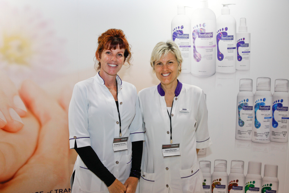 <p>Debra Bourque and Kimberly Kennedy, educators for Footlogix and the directors for the International Pedicure Association (IPA)</p>