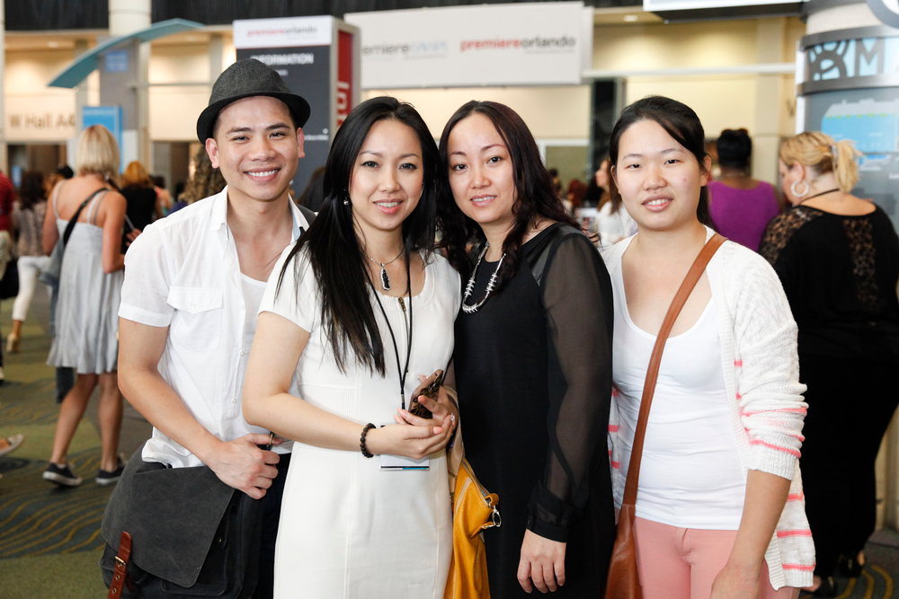 <p>Binh Nguyen and salon team prepared for a day at the show.</p>