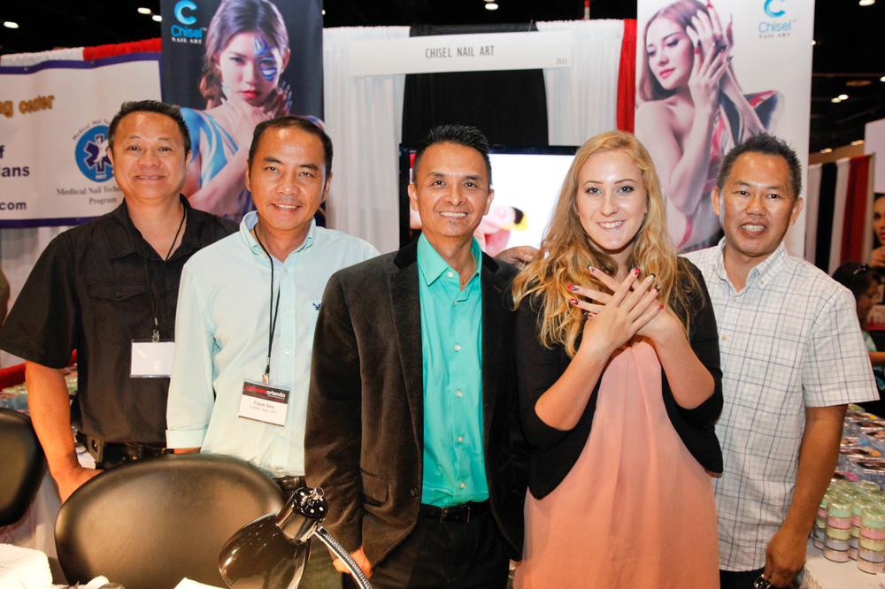 <p>Chisel Nail Art&rsquo;s Christopher Nguyen, Frank Deo, David Hoang, model Genesis Stallings, and John Hang debuted their new products at Premiere Orlando.</p>
