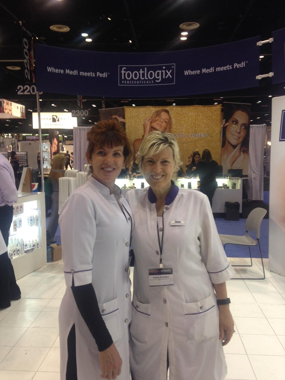 <p>Kimberly Kennedy and Debra Bourque, Footlogix</p>