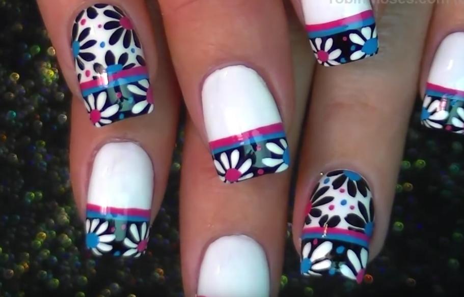 Daisy Nails Floral Nail Tutorial