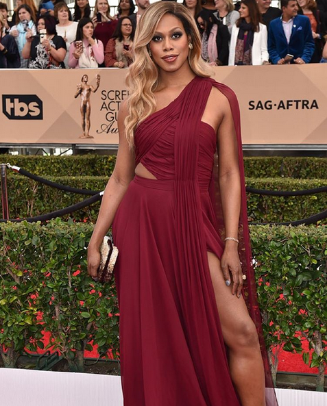 """<p>Laverne Cox wore Caption Read it &amp; Weep. Nails by Sabella Snyder. Image via <a href=""""https://www.instagram.com/sweetbcreations/"""">@sweetbcreations</a></p>"""