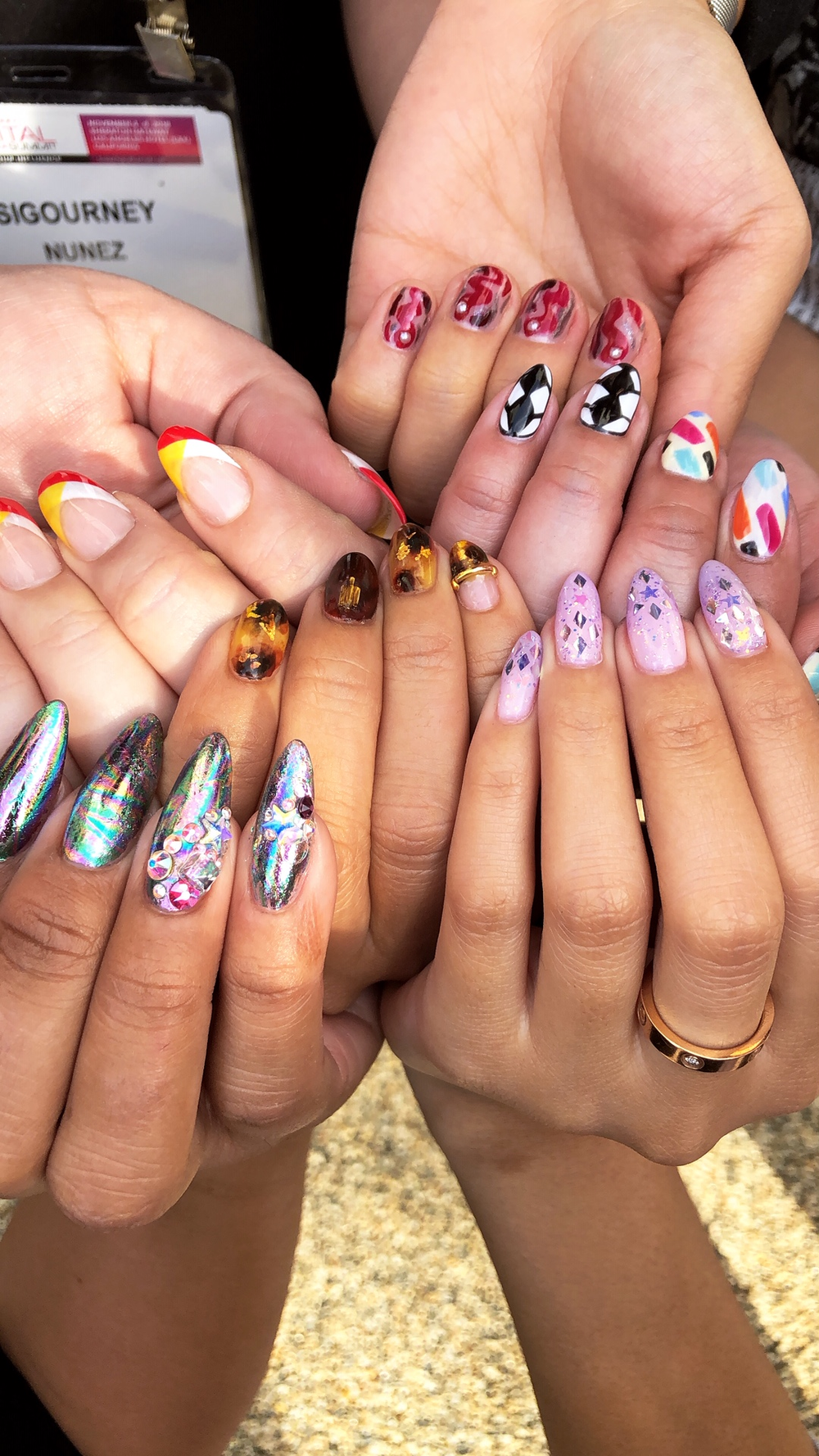 <p>Nail art worn to SDS sported by @nailuscious, @ashleygnails, @winnieisawesome, @nailartbysig, @ricekittynails</p>