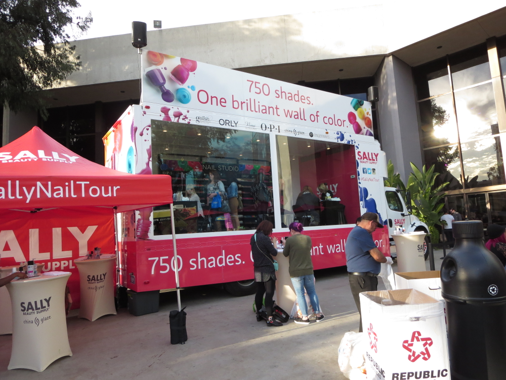 <p>Sally Beauty Supply roled out a mobile nail wall filled with 750 shades.</p>
