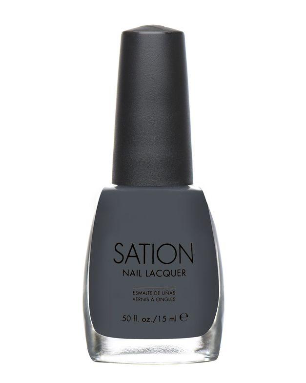<p><strong>Sation Nail Lacquer</strong> in Seriously Slate 9024 is a gorgeous slate grey is as chic as black.</p>