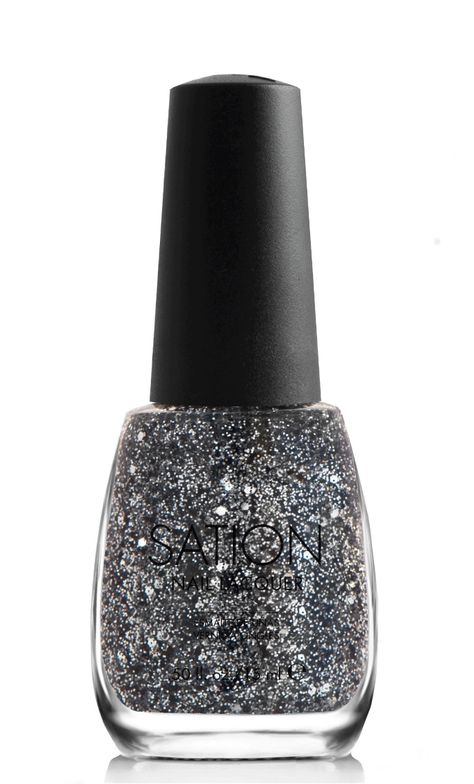 <p><strong>Sation Nail Lacquer</strong> in Videogame Vixen 9038 is an edgy mix of micro, light-reflecting glitter.</p>