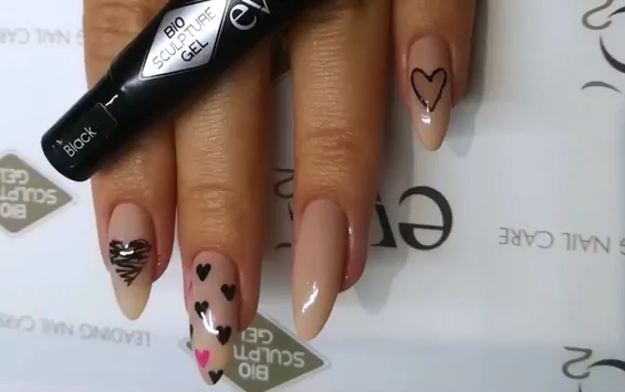 Valentine's Nails with Bio Sculpture HP Gel & Stencils