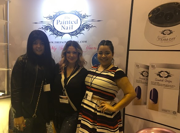 <p>Lexi Martone, Katie Cazorla, and NAILS' Sigourney Nu&ntilde;ez talked about the Painted Nail's new peel-off base coat, Apeeling.&nbsp;</p>