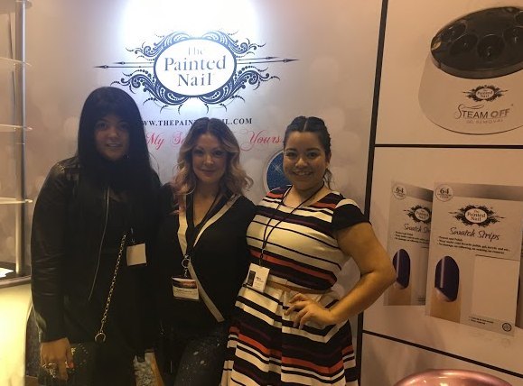 <p>Lexi Martone, Katie Cazorla, and NAILS' Sigourney Nu&ntilde;ez talked about the Painted Nail's new peel-off base coat, Apeeling.&nbsp;</p>