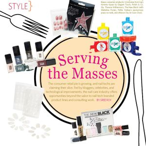 Nail techs' expertise was integral in creating these consumer products: (clockwise from top)...