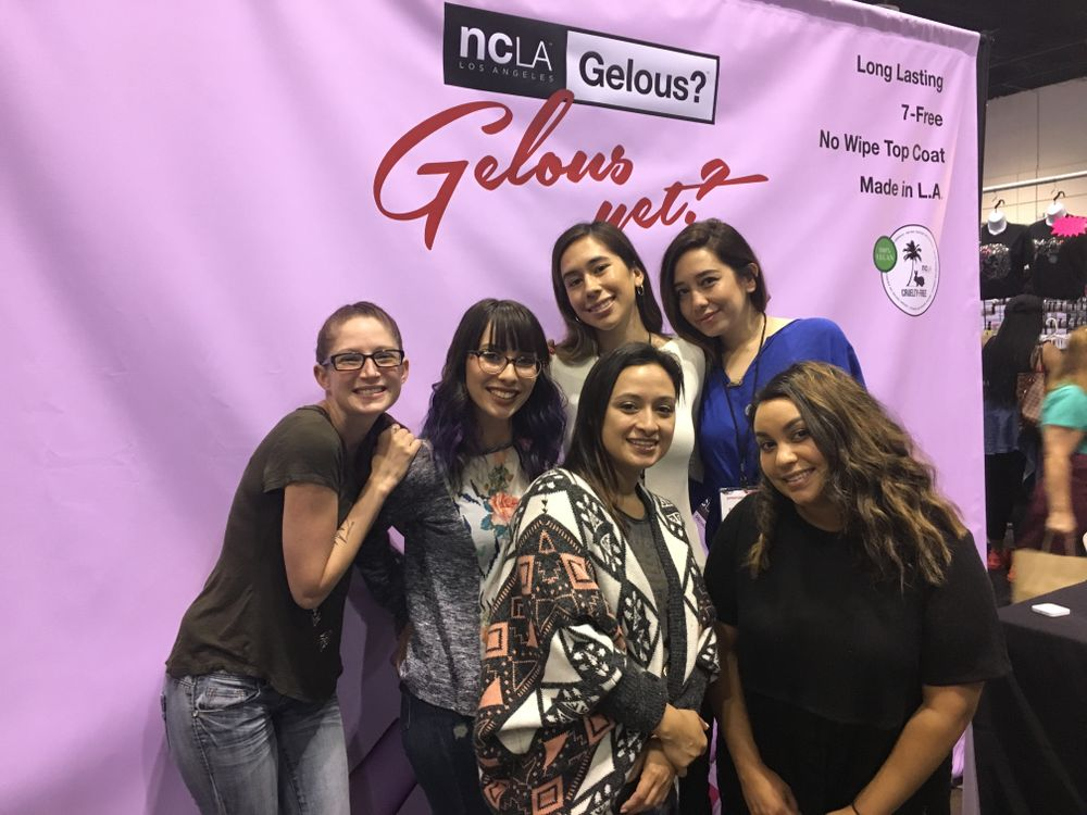 <p>The girls of Paint Nail Bar met up with NCLA's Elin and Anne</p>