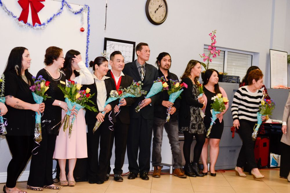 <p>Recognizing the instructors at Advance Beauty College</p>
