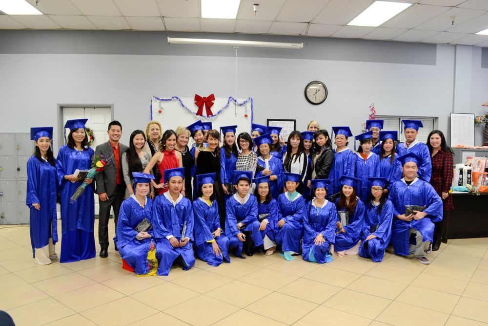 <p>Nail school gradutes who completed the 400-hour course.</p>