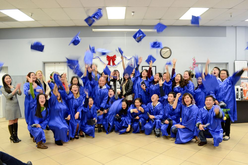 <p>Nail school gradutes who completed the 600-hour course.</p>