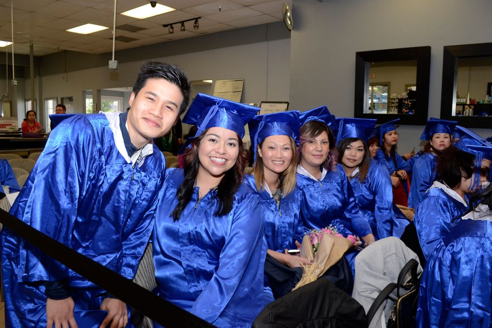 <p>From left: Andy Dang Pham, Sigourney Nu&ntilde;ez, Sarom Hong, Antonia Huerta, and Krystal Brillante.</p>