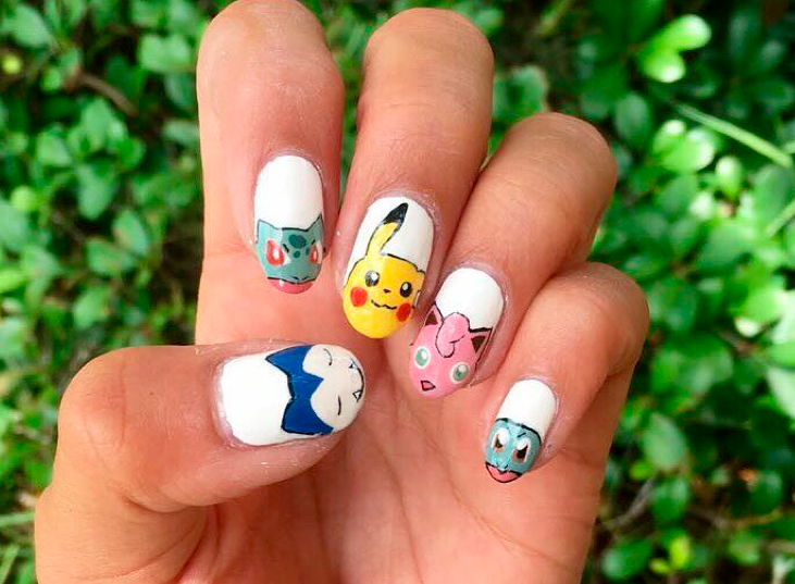 "<p>Snorlax, Bulbasaur, Pikachu, Jigglypuff, and Squirtle nails by <a href=""https://www.instagram.com/simmysnailaddiction/"">@simmysnailaddiction</a></p>"