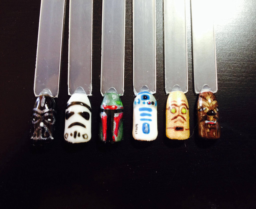 "<p>Star Wars nails by Jennifer Smith, <a href=""https://www.facebook.com/GetnaildByJenn"">Get Nail'd by Jenn</a>, St. Albert, Alberta, Canada</p>"