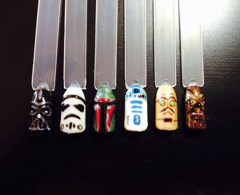 "<p>Star Wars nails by Jennifer Smith, <a href=""https://www.facebook.com/GetnaildByJenn"">Get Nail'd by Jenn</a>, St. Albert, Alberta, Canada</p>"