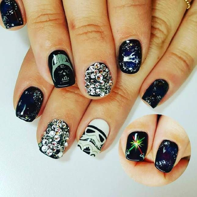 "<p>Darth Vader and Stormtrooper nails by <a href=""https://instagram.com/toesonthegoes"">Liza Waitzman</a>, Toes On the Goes, San Diego, Calif.</p>"