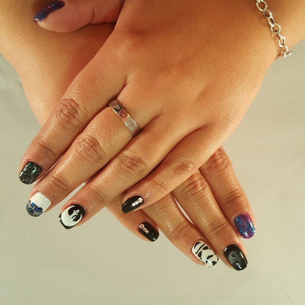"""<p>Star Wars nails by <a href=""""https://instagram.com/toesonthegoes"""">Liza Waitzman</a>, Toes On the Goes, San Diego, Calif.</p>"""