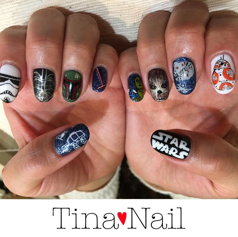 """<p>Star Wars nails by <a href=""""https://www.instagram.com/tina._.nail"""">Tina Nail</a>, Setagaya, Tokyo, Japan</p>"""