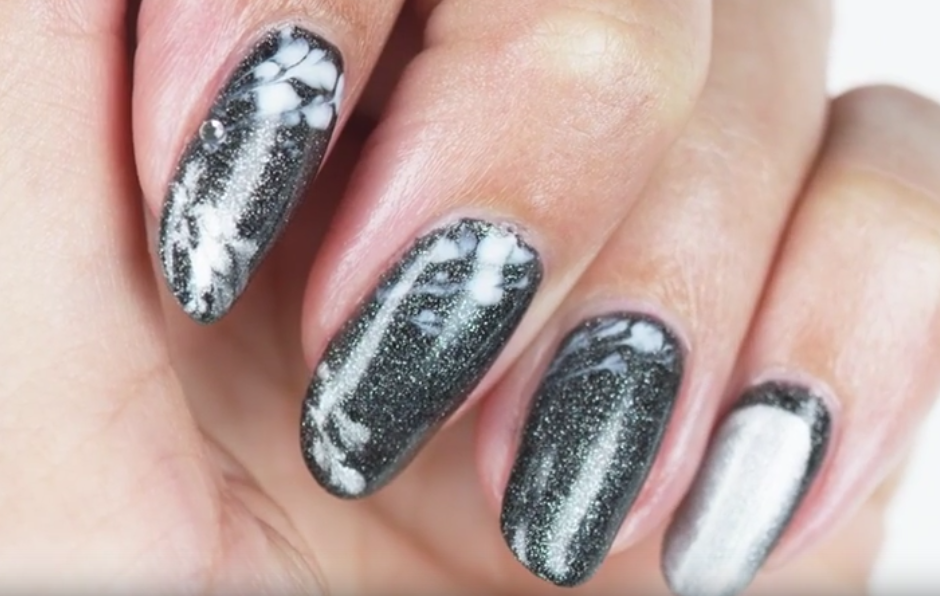 Stardust Abstract Nails Using OPI GelColor