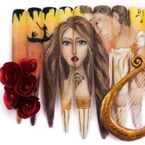 NTNA S. 6 Challenge 4: Greek Mythology Nail Art (Stella)