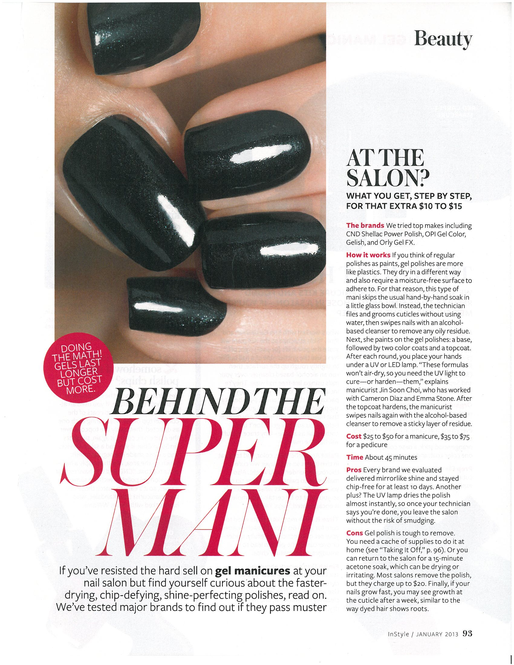 <i>InStyle</i>'s Review of Gel Manis/Pedis