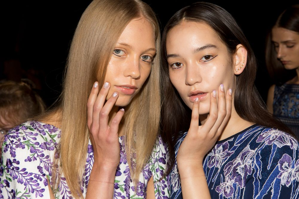 <p>butter LONDON Cotton Buds, Muggins, and Molly Coddled were used at Tadashi Shoji.</p>
