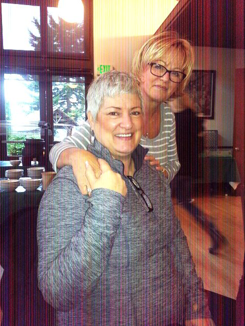 <p>Vicki with Tami Schmidt</p>